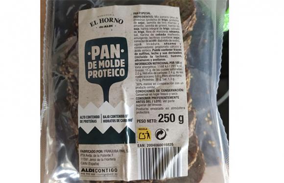 Pan proteico de Aldi