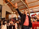 Pedro Sánchez, en la presentación de Gonzalo Caballero como candidato del PSOE a la Xunta de Galicia
