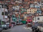 Imagen de un barrio de chabolas en Caracas, capital de Venezuela