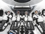 Astronautas de la NASA en el SpaceX
