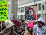Imagen de la manifestación en favor de la mujer celebrada en Chicago en enero de este año
