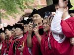 Imagen de la ceremonia de inauguración del curso en la Universidad de Harvard, en mayo de 2019, la última celebrada