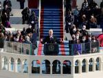 Joe Biden durante su discurso de investidura, en Washington DC