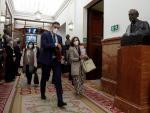 Sánchez y Calvo antes de la sesión en el Congreso