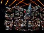 El actor Antonio Banderas en la gala de la 35 edición de los Premios Goya que se celebra hoy sábado en el Teatro del Soho CaixaBank de Málaga