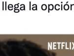 Tuit que explica nuevo botón de Netflix