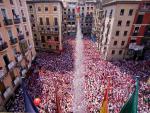 El chupinazo abre 204 horas de fiesta ininterrumpida en Pamplona