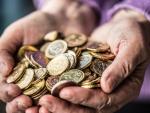 Fotografía del dinero de un plan de pensiones. Los planes de pensiones son productos de ahorro que también se pueden embargar en caso de deudas.