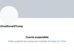 Twitter Trump, cancelado