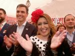 Susana Díaz y Pedro Sánchez en la Feria de Abril 2018