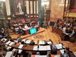 Pleno del Ayuntamiento de Barcelona presidido por Ada Colau