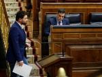 Pedro Sánchez y Gabriel Rufián en el Congreso