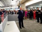 Visita de Trump al RNC Annex, en Arlington, Virginia.
