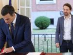 Fotografía Pedro Sánchez y Pablo Iglesias, acuerdo PGE 2019 / EFE