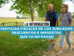 Infografía sobre las ventajas fiscales para los jubilados.