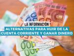 Infografía sobre las alternativas a la cuenta corriente para tener el dinero.