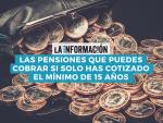 Infografía sobre las pensiones que puedes cobrar si solo has cotizado el mínimo de 15 años.