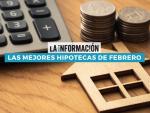 Infografía sobre las mejores hipotecas de febrero de 2021.