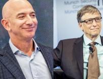 Jeff Bezos and Bill Gates.
