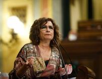 La ministra de Hacienda, María Jesús Montero, en una intervención en el Congreso.