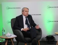 El presidente del Cercle d'Economia, Javier Faus interviene en la presentación del documento 'Green Deal: Retos y oportunidades en la transición hacia un modelo socioeconómico sostenible' del Cercle d'Economia, a 16 de abril de 2021, en Barcelona, Catalunya (España). 16 ABRIL 2021;ECONOMÍA;CATALUÑA;TERESA RIBERA;MINISTRA;ECOLOGÍA;SOSTENIBLE Alberto Paredes / Europa Press   (Foto de ARCHIVO) 16/4/2021