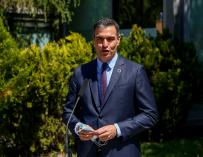 The secretary general of the PSOE and president of the Government, Pedro Sánchez, offers statements to the media after exercising his right to vote at the Volturno Cultural Center, on May 4, 2021, in Pozuelo de Alarcón, Madrid (Spain).  A total of 5,112,658 Madrilenians are called to the polls today, May 4, which represents 53,406 more than those who were summoned in the 2019 regional elections, according to the electoral census reflected in the INE, collected in the 179 municipalities of the region.  For these elections, 7,265 polling stations have been set up in 1,084 locations.  MAY 04, 2021; MADRID ELECTIONS; ASSEMBLY ELECTIONS; 4M; 4-M Ricardo Rubio / Europa Press 5/4/2021