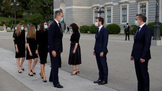 La Familia Real a su llegada a la catedral de la Almudena
