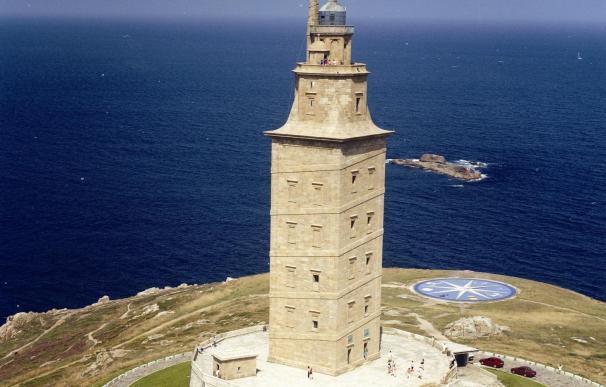 La Torre de Hércules lucirá iluminación azul el domingo para conmemorar su declaración como Patrimonio
