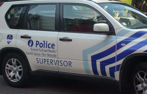 Fotografía de un coche de la policía belga.