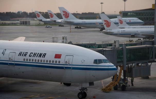 Aviones de Air China en el aeropuerto de Pekín.