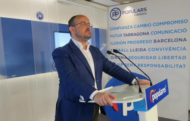 El president del PP de Catalunya, Alejandro Fernández, en una imagen de archivo.