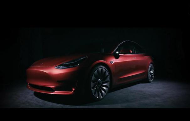Fotografía del Tesla Model 3