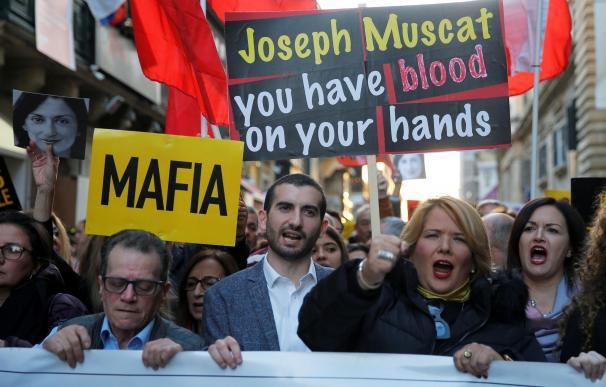 Protestas Malta asesinato Caruana