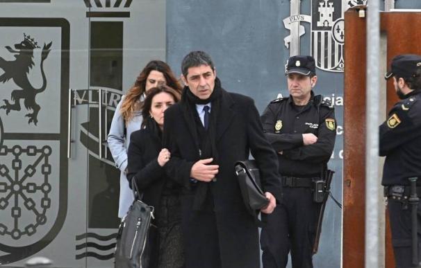 Josep Lluis Trapero a su salida de la Audiencia Nacional