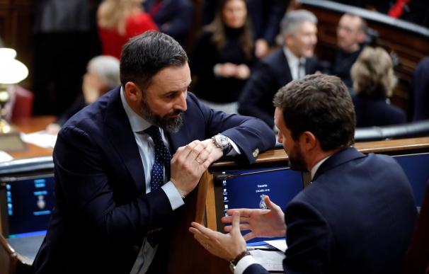 Pablo Casado y Santiago Abascal