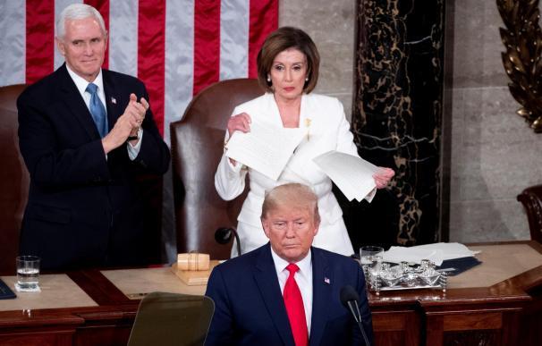 Pelosi y Trump. / EFE
