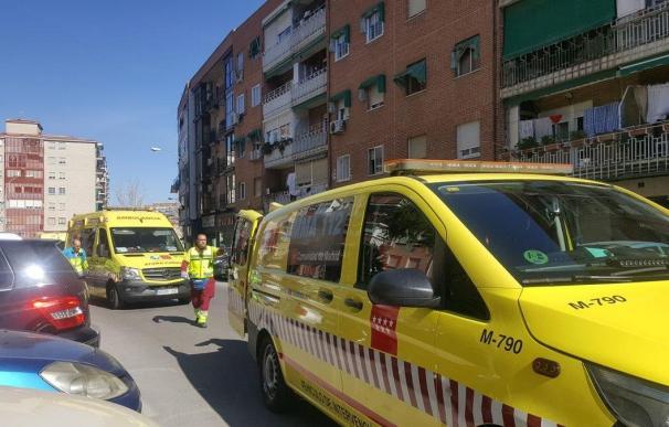 Los servicios de emergencias en la zona del suceso. /112 Comunidad de Madrid