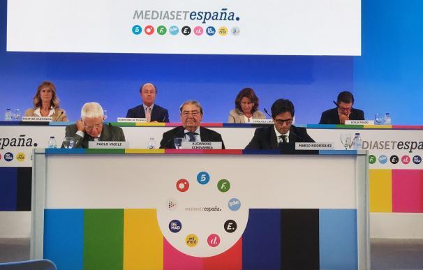 Junta de accionistas de Mediaset España en Madrid.