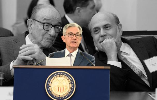 Powell sigue los pasos de Greenspan y Bernanke en movimientos sorpresa de tipos.
