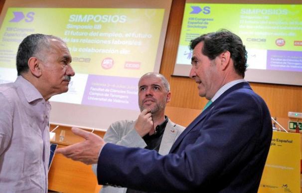 Fotografía Sordo, Álvarez, Garamendi / EFE
