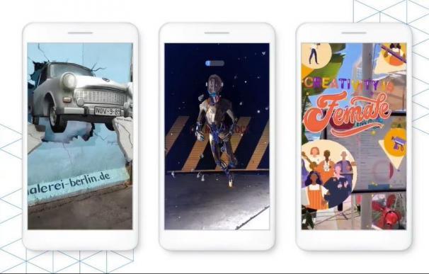 De izquierda a derecha: Berlin Wall Sehsucht y por @mate_steinfort; Stormland por @oculus; Cannes Lions por @cannes_lions