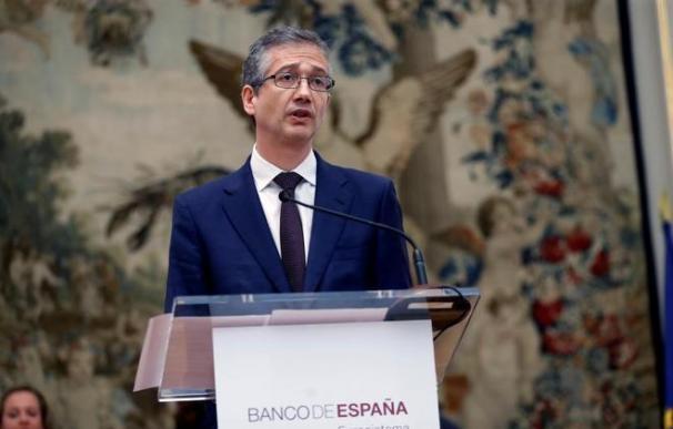 Pablo Hernández de Cos, nuevo gobernador del Banco de España, en su toma de posesión del cargo. EFE