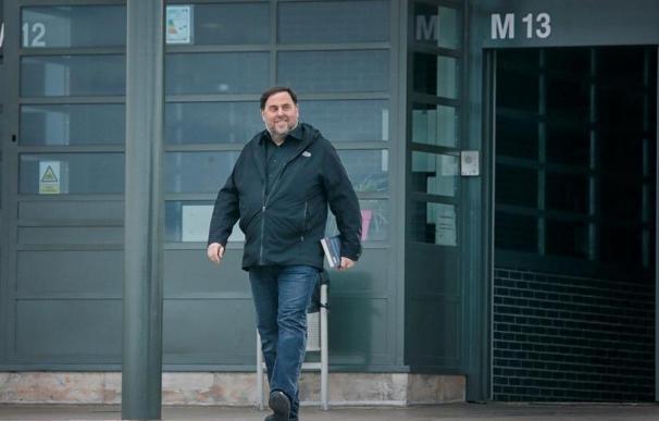 Oriol Junqueras sale de la cárcel