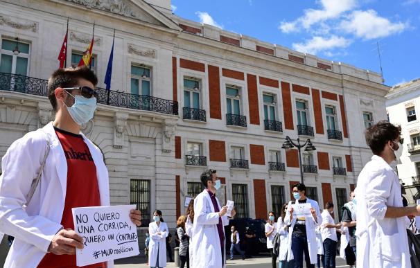 Manifestación de sanitarios en Madrid