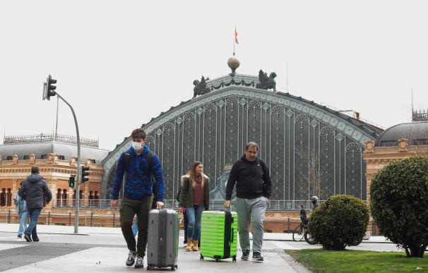 La Estación de Atocha ha tenido durante estos meses muchos menos usuarios de lo habitual.