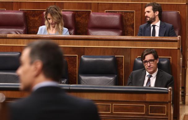 Pedro Sánchez, Salvador Illa, Pablo Casado, Cayetana Álvarez de Toledo