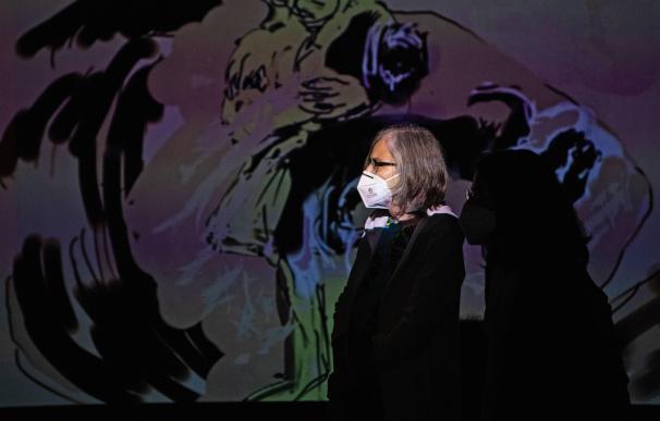 Imagen de una exposición en la Fundación Miró tras la reapertura por la pandemia.