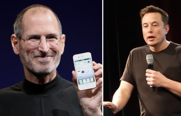 Steve Jobs (Apple) y Elon Musk (Tesla y SpaceX).