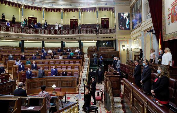 Homenaje a las víctimas del terrorismo en el Congreso de los Diputados.