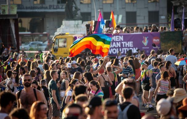 Manifestación en el día del Orgullo en Madrid
